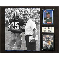 NFL Bart Starr and Vince LombardiグリーンベイPackers Player Plaque、ブラウン、12 x 15インチ