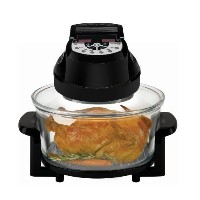 Big Boss Rapid Wave Halogen Infrared Convection Countertop Oven - 12 テつス Quart with Extender Ring...