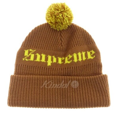 【中古】SUPREME Old English Beanie ボンボンニットキャップ 2016F/W 【009800】 【KIND1447】