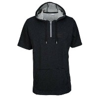 アンダーアーマー メンズ トップス Tシャツ【Pursuit Short Sleeve Hooded T-Shirt】Black/True Grey Heather