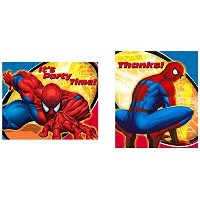 Spiderman Spidersense Set of 8 Invitations and Thank You's by Spider-Man