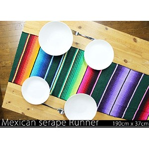 RUG&PIECE Mexican Serape Table Runner made in mexcico メキシカン サラペ テーブルランナー (rug-5981)