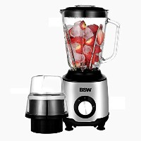 BSW Trendy Multi Function Blender Silver and Black BS-1505-BL 220V 51oz + Free Gift (Key Ling)...
