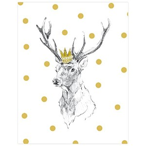 BR & nameinternal–Stag Portrait 10x 14キャンバス壁アート、byアンナ・バーネット