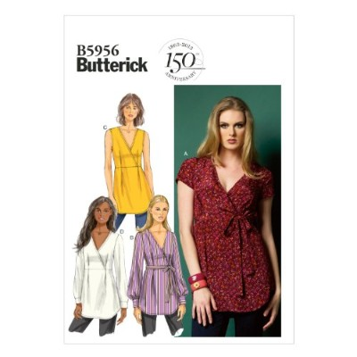 Butterick Patterns B5956 Misses' Top and Belt Sewing Templates, Size A5 (6-8-10-12-14) by BUTTERICK...