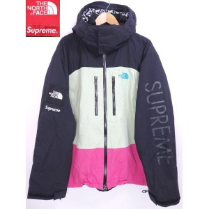 07SS SUPREME × THE NORTH FACE MOUNTAIN SUPREME GUIDE JACKET 黒ピンク XL シュプリーム ノースフェイス コラボ 1st...