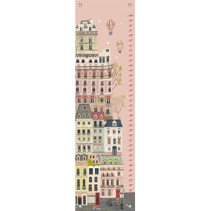 Oopsy Daisy Growth Charts Sweet Street at Dusk by Pim Pimlada, 12 by 42-Inch by Oopsy Daisy