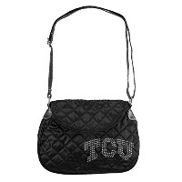 Little Earth NCAAスポーツNoir Quilted Shoulder Bag