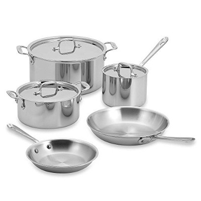 All-Clad Stainless Steel 8-Piece Cookware Set [並行輸入品]