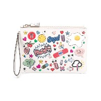 Anya Hindmarch All Over Stickers クラッチバッグ - ホワイト