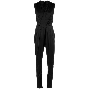 Tufi Duek wrap neck jumpsuit - ブラック