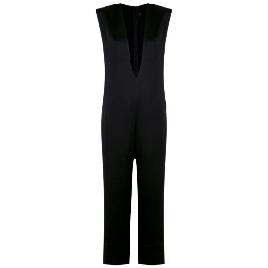 Gloria Coelho deep V-neck jumpsuit - ブラック