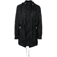 Dior Homme drawstring hooded parka - ブラック