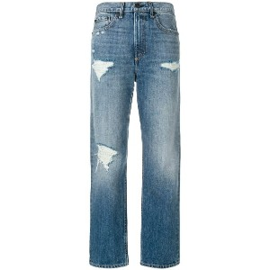 Rag & Bone /Jean distressed cropped jeans - ブルー