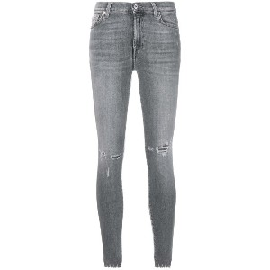 7 For All Mankind ダメージ スキニージーンズ - グレー