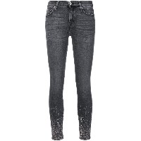 7 For All Mankind ラインストーン スキニージーンズ - グレー