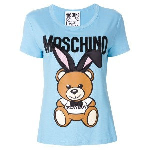 Moschino Playboy Toy Bear Tシャツ - ブルー