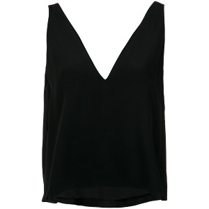 Giuliana Romanno deep neck tank top - ブラック