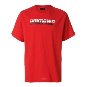 Unknown International ロゴ Tシャツ - レッド