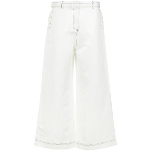 Osklen wide leg stitched trousers - ホワイト