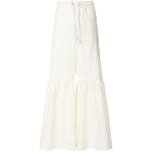 See By Chloé flared drawstring trousers - ホワイト