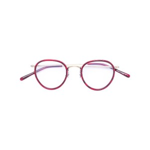 Oliver Peoples ラウンド眼鏡フレーム - レッド