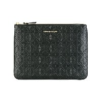 Comme Des Garçons Wallet Classic Embossed A クラッチバッグ - ブラック