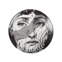 Fornasetti グラフィックプリント 皿 - ホワイト