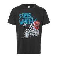 Fake Alpha Vintage Rolling Stones Steel Wheels Tシャツ - ブラック