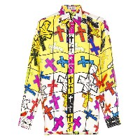 VERSACE PRE-OWNED プリント シャツ - イエロー