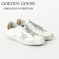ゴールデングース GOLDEN GOOSE レディススニーカー C73G31WS590 SNEAKERS SUPERSTAR WHITE/GOLD 【rm5o】