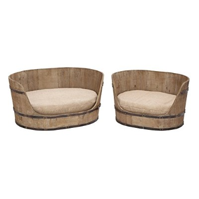 Deco 79 Classic Style Pet Bed Set with Handmade Wood by D'Eco