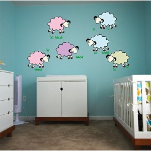 Pop Decors Wall Decals, A Group of Sheep by Pop Decors