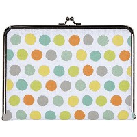 C.R. Gibson Canvas Photo Clutch, Watercolor Dots by C.R. Gibson