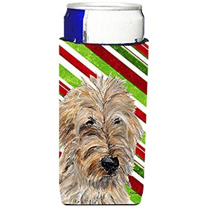 Golden Doodle 2 Candy CaneクリスマスUltra Beverage Insulators forスリム缶sc9811muk