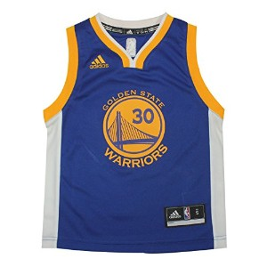 Golden State Warriors Curry # 30–Boys Professional Jersey Top ブルー