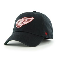 NHL Detroit Red Wings Franchise Fitted Hat、XXL、ブラック