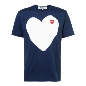 Comme Des Garçons Play プリント Tシャツ - ブルー
