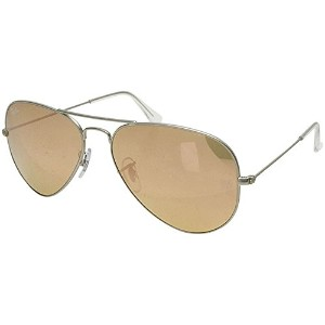 レイバン Ray Ban サングラス RB3025 019/Z2 AVIATOR LARGE METAL MATTE SILVERBROWN MIRROR PINK
