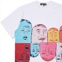 COMME des GARCONS HOMME DEUX(コムデギャルソン オムドゥー) x Barry McGee FACE TEE (Tシャツ) WHITE 200-007709-040x【新品】