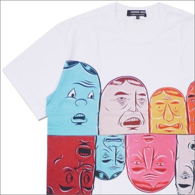 COMME des GARCONS HOMME DEUX コムデギャルソン オムドゥー x Barry McGee FACE TEE Tシャツ WHITE 200007709040x【新品】