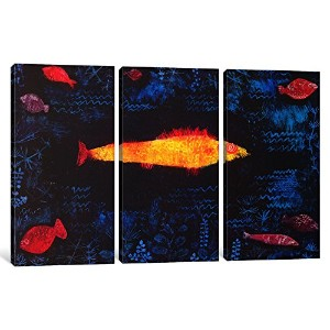iCanvasART 3ピースThe Golden Fishキャンバスプリントby Paul Klee、0.75X 60X 101.60