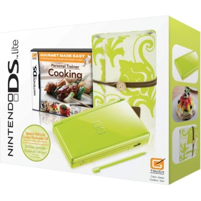 Nintendo DS Lite Green - Spring Bundle w/Personal Trainer: Cooking(輸入版:北米)