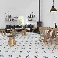 Tiles adhesivos Decals - Pack de 10 azulejos - 10個のタイル - タイルデカール (Stars Style Tile Decal, 壁 - 5.9 x...