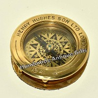 Antique-Nautical-Brass-Compass-Flip-Out-Magnifying-Glass-Vintage-Table-Top-Decor