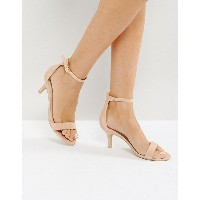 グラマラス レディース サンダル シューズ Glamorous Barely There Kitten Heeled Sandals Nude patent