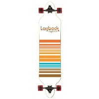 Layback Complete Lines Drop Thru Skateboard Deck (39 x 9) by Layback