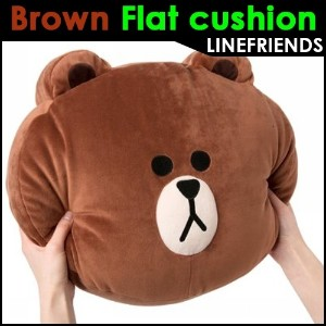[LINE FRIENDS] Brown cushion flat cushion soft cushion interior decoration doll