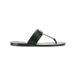 Gucci Double G thong sandals - ブラック