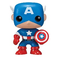 Funko - Figurine Captain America Pop 10cm - 0830395022246